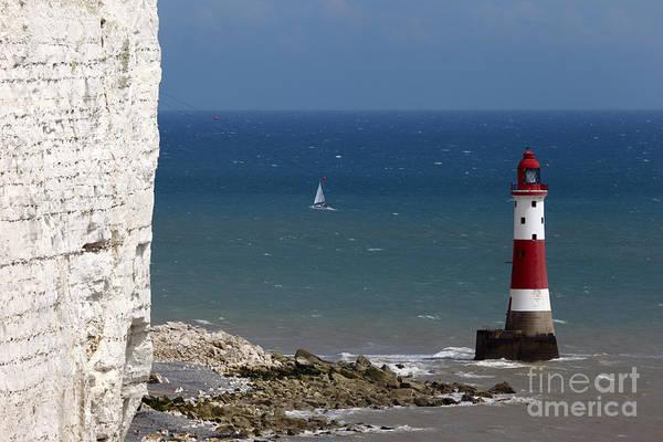 Photograph - Beachy Head Lighthouse by James Brunker