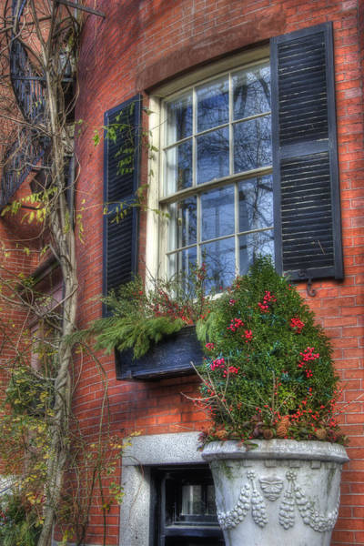 Photograph - Beacon Hill Windows by Joann Vitali