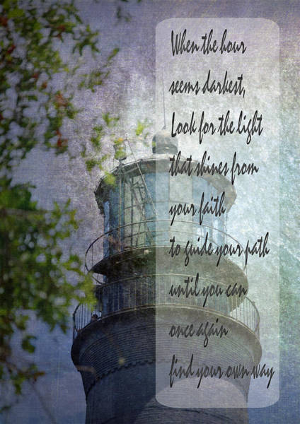 Photograph - Beacon Of Hope Inspiration by Judy Hall-Folde