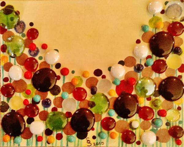 Wall Art - Mixed Media - Bead Flowers by Stacy Street