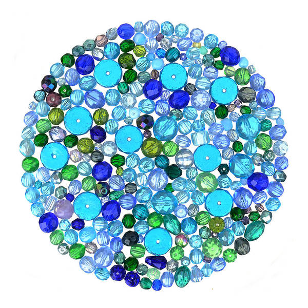 Beading Photograph - Beads In Blues by Jim Hughes
