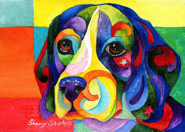 Painting - Beagle by Sherry Shipley