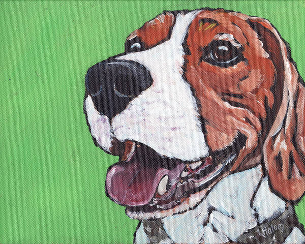 Painting - Beagle Timo by Greg and Linda Halom
