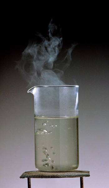 Bubble Up Photograph - Beaker Of Heated by Dorling Kindersley/uig