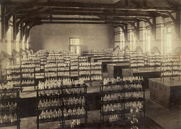 Lehigh University Wall Art - Photograph - Beakers And Bottles by Underwood Archives