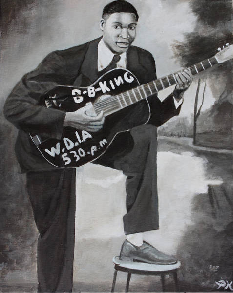 Thrilling Painting - Beale Street Blues Boy by Patrick Kelly