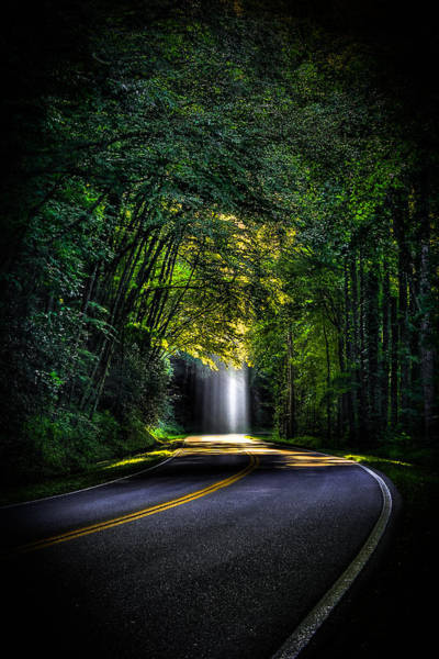 Photograph - Beam Me Up Great Smoky Mountains Tennessee Mountains Art by Reid Callaway