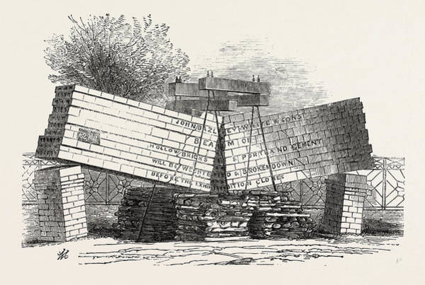 Beam Drawing - Beam Of Hollow Bricks by J.b. White And Sons, English, 19th Century