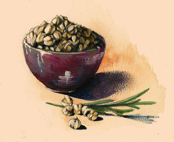 Rosemary Painting - Beans Chickpeas by Alessandra Andrisani