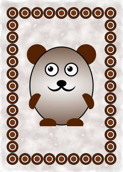 Digital Art - Bear - Animals - Art For Kids by Anastasiya Malakhova