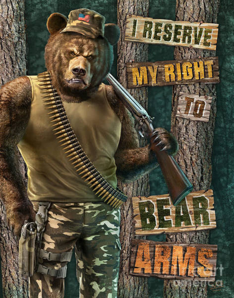 Painting - Bear Arms by JQ Licensing