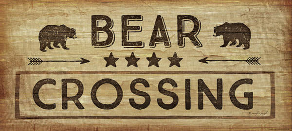 Bear Country Wall Art - Painting - Bear Crossing by Jennifer Pugh