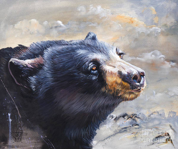 Painting - Four Winds Bear by J W Baker