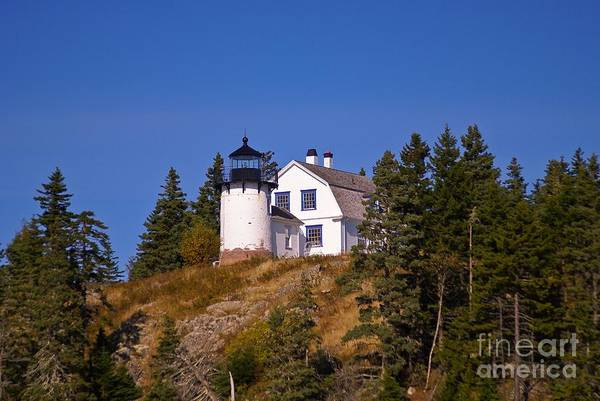Photograph - Bear Island Light.  by New England Photography