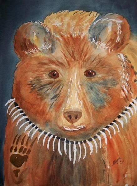 Bear Country Wall Art - Painting - Bear Medicine by Ellen Levinson