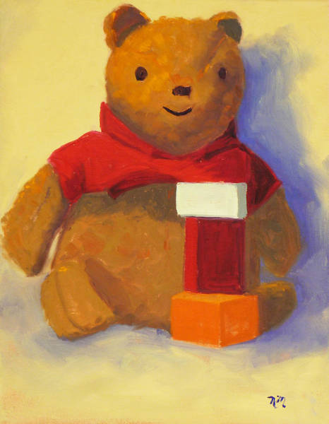 Wall Art - Painting - Bear by Nancy Merkle