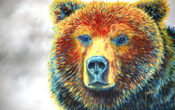 Jackson Hole Wall Art - Painting - Bear Thoughts by Teshia Art