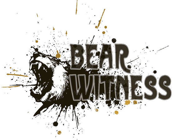 Digital Art - Bear Witness Minimalist Poster by Celestial Images