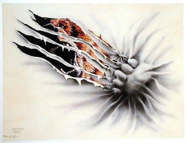 Painting - Bear Your Soul by Tim  Joyner