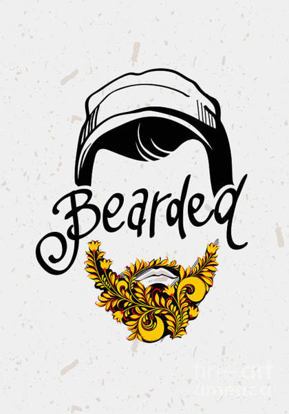 Funny Wall Art - Digital Art - Beard And Mustache. Traditional Russian by Pevuna