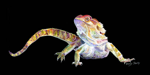 Painting - Bearded Dragon by Sherry Shipley