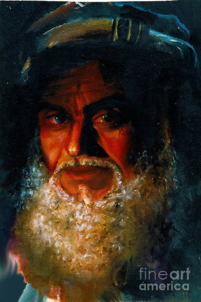 Painting - Bearded Man by Donna Chaasadah
