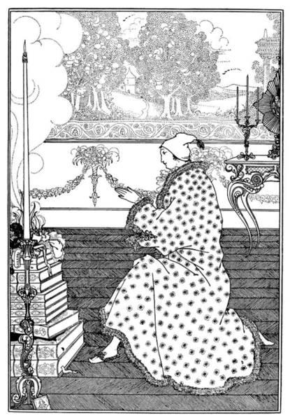 Drawing - Beardsley Rape The Lock by Granger