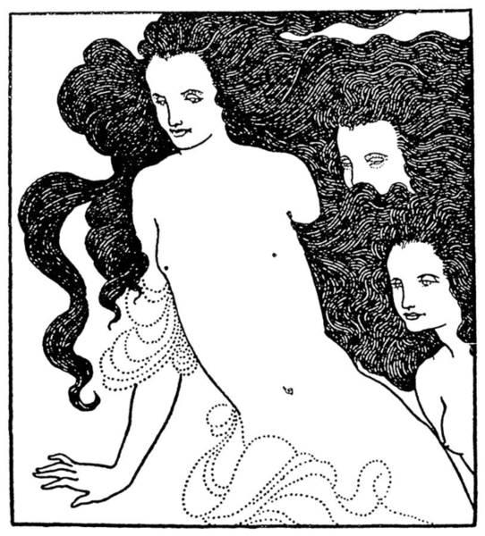 Aubrey Drawing - Beardsley Rhinegold, 1896 by Granger