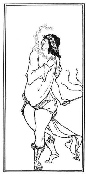 Beardsley Drawing - Beardsley Sixth Satire by Granger