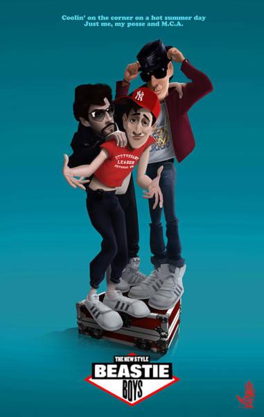Digital Art - Beastie Boys_the New Style by Nelson Dedos Garcia