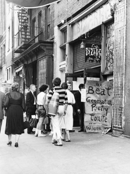 Wall Art - Photograph - Beat Generation At West Village Coffee by Dick Hanley