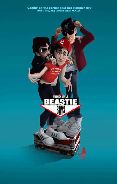 Digital Art - Beatie Boys_the New Style 2 by Nelson Dedos Garcia