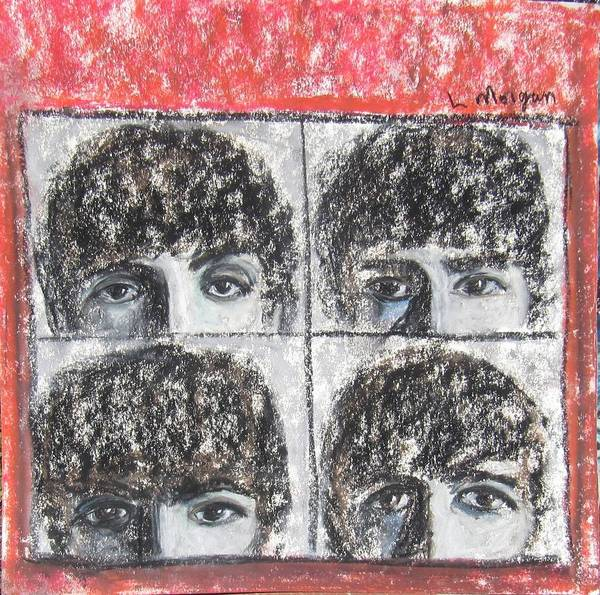 Painting - Beatles Hard Day's Night by Laurie Morgan