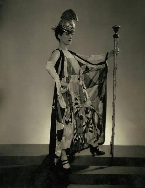 Revue Wall Art - Photograph - Beatrice Lillie As Britannia by Edward Steichen