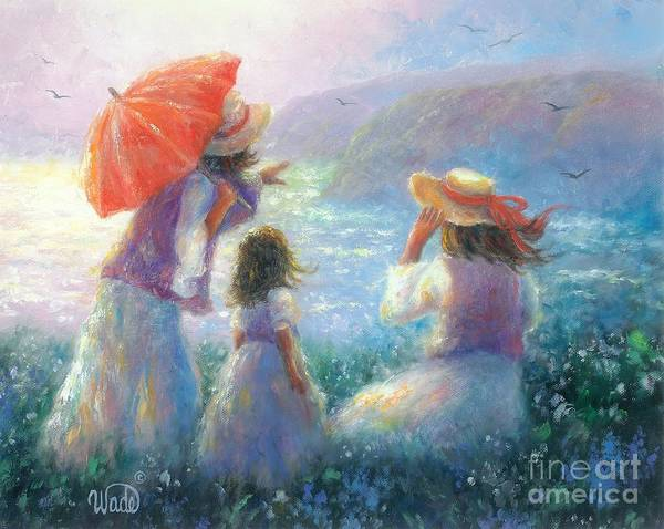 Wall Art - Painting - Beauties By The Bay by Vickie Wade