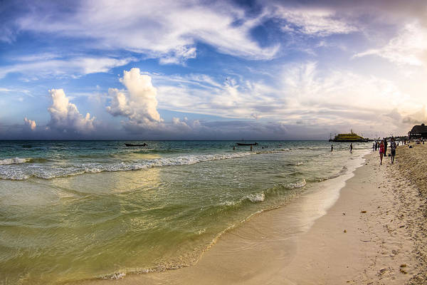 Photograph - Beautiful Afternoon On Playa Del Carmen by Mark E Tisdale