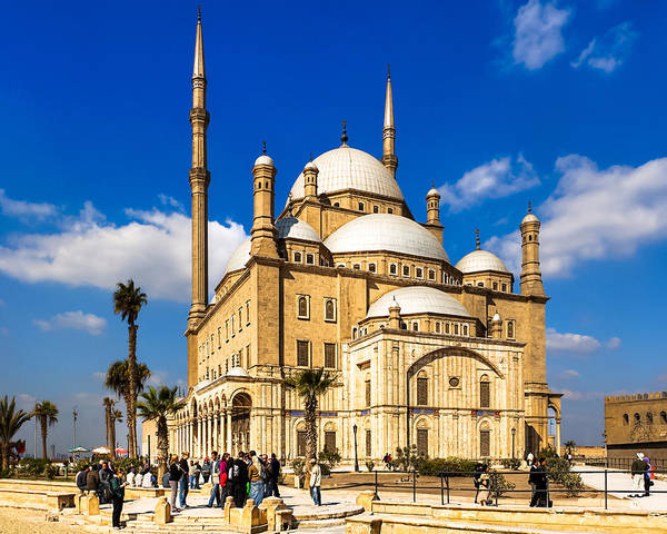 Alabaster Photograph - Beautiful Alabaster Mosque In Cairo Egypt by Mark Tisdale