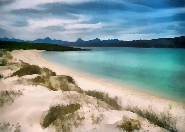 Sand Dunes Digital Art - Beautiful Beach by Ann Powell
