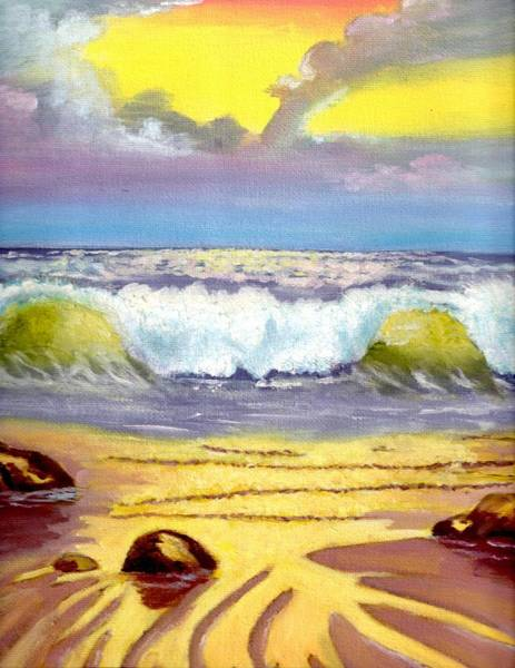 Painting - Beautiful Beach by Cassy Allsworth