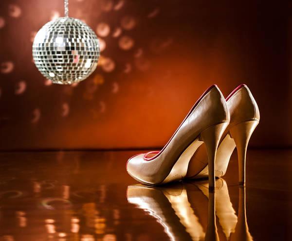 Photograph - Beautiful Brown Stilettos On The Dance Floor by U Schade