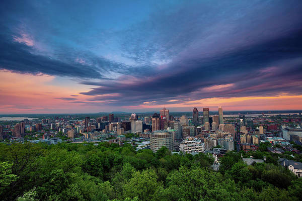 Beautiful Cloud Over The Montreal City Art Print by D3sign