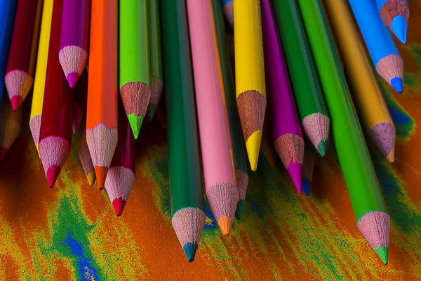 Pencil Drawing Photograph - Beautiful Colored Pencils by Garry Gay