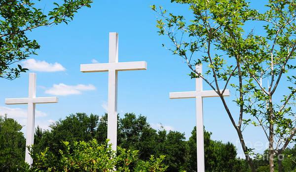 Easter Sunday Digital Art - Beautiful Crosses by Cheryl Casey