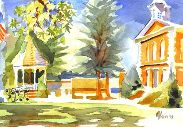 Painting - Beautiful Day On The Courthouse Square by Kip DeVore