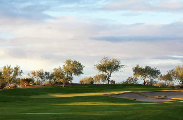 Trapped Photograph - Beautiful Desert Golf Course by Imaginegolf
