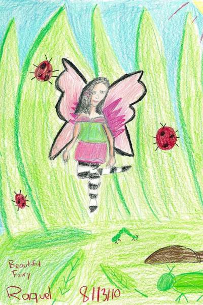 Drawing - Beautiful Fairy by Fred Hanna