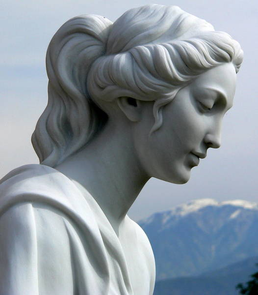 Photograph - Beautiful Female Statue Mountains by Jeff Lowe