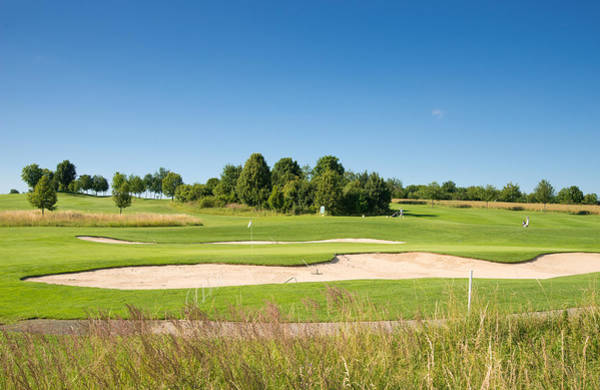 Photograph - Beautiful Green Golf Course And Blue Sky by Matthias Hauser