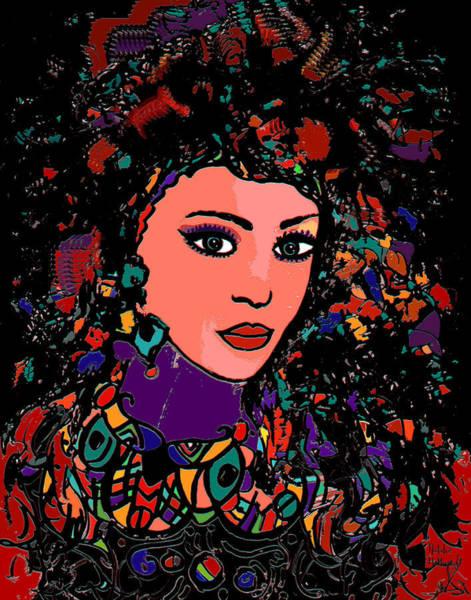 Gitana Wall Art - Mixed Media - Beautiful Gypsy by Natalie Holland