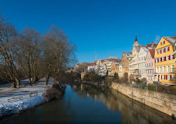 Photograph - Beautiful Houses And Blue River In Lovely Tuebingen Germany by Matthias Hauser
